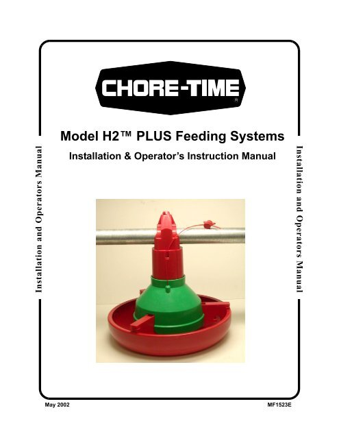 Model H2™ PLUS Feeding Systems - Chore-Time Poultry