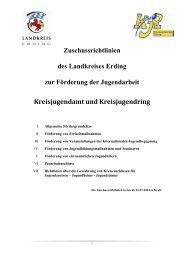 Zuschuss- Richtlinien - Kreisjugendring Erding