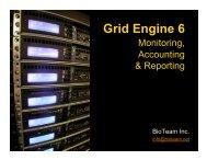 SGE Admin - Monitoring - BioTeam