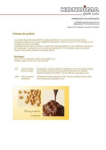 Cremes de praline - Kondima Engelhardt GmbH & Co. KG