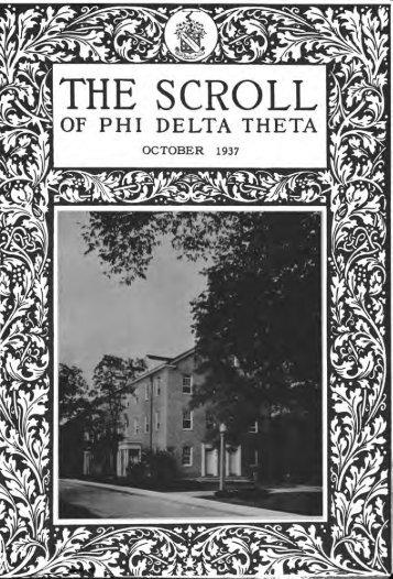 1937–38 Volume 62 No 1–5 - Phi Delta Theta Scroll Archive