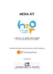 media kit contents - h2o - just add water - ZDF Enterprises