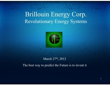 Brillouin PPT Technical - Pure Energy Systems News