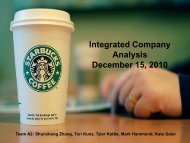 Integrated Company Analysis December 15, 2010 - Business Library
