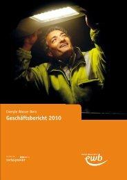 Geschäftsbericht 2010 - Energie Wasser Bern