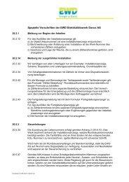 Spezielle Vorschriften EWD AG