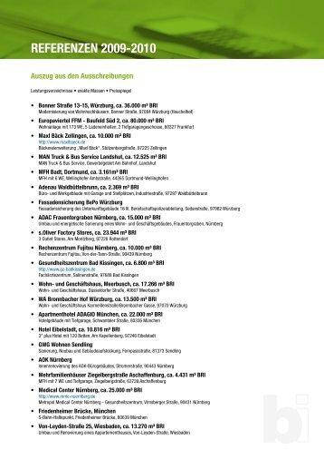 REFERENZEN 2009-2010 - baukosteningenieure