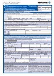 Antrag/Angebotsanfrage Basis-Rente / Risikolebensversicherung ...