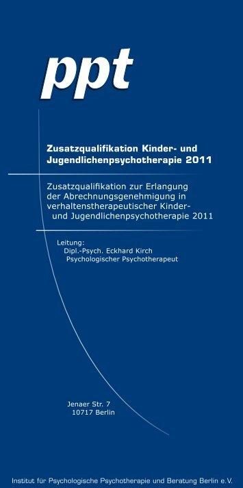 Zusatzqualifikation Kinder- und Jugendlichenpsychotherapie ... - ppt
