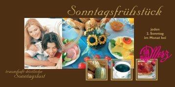 Frühstücks-Flyer - Konditorei Merz