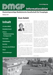 Deutschsprachige Medizinische Gesellschaft für Paraplegie - der ...