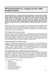 """VM Impianti Elettrici S.r.l. integrata nel Polo """"VINCI Energies ... - Etavis"""