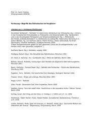 Prof. Dr. Karin Hirdina Wintersemester 2005/06 Vorlesung »Begriffe ...