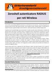Zeroshell autenticatore RADIUS per reti Wireless - Paolo PAVAN