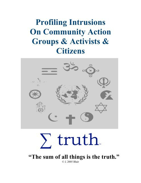 Profiling Intrusions On Community Action Groups Infraspect