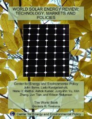 review of solar energy technology, markets and policies - Center for ...