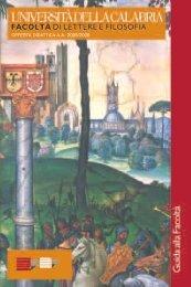 Guida dello Studente 2005-2006 - CSDIM - Università della Calabria