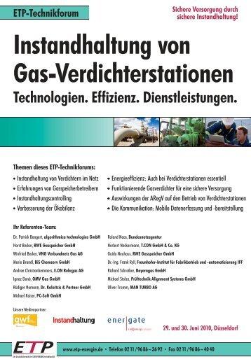 Instandhaltung von Gas-Verdichterstationen - Dr. Kalaitzis & Partner