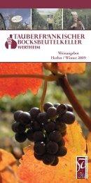 Rotweine aus Tauberfranken - GWF-Frankenwein