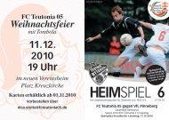 5. Heimspiel, T05 1.Herren - FC Teutonia 05 eV