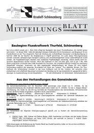 Mitteilungsblatt Februar 2010 (PDF) - Gemeinde Kradolf-Schönenberg