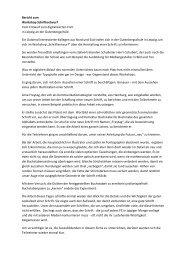 Bericht zum Workshop Schriftentwurf Vom Entwurf ... - LAG Medien eV
