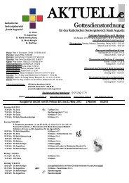 Gottesdienstordnung - Seelsorgebereich Sankt Augustin
