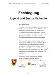 Fachtagung Jugend und Sexualität heute - Stadt Neuwied