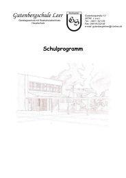 Schulprogramm downloaden - 1. HS Leer, Gutenbergschule