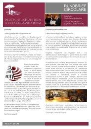 RUNDBRIEF CIRCOLARE - Deutsche Schule Rom