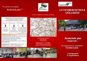 Realschule plus GUTENBERGSCHULE GÖLLHEIM