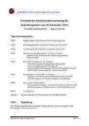 SEB GBS Protokoll 18.09.2012 - Gutenbergschule Wiesbaden