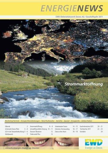 """Kundenzeitschrift """"EnergieNews"""" - EWD"""