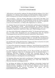 Tagungen und Kongresse - Das Philosophische Seminar ...