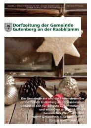 Dorfzeitung der Gemeinde - Gemeinde Gutenberg an der Raabklamm