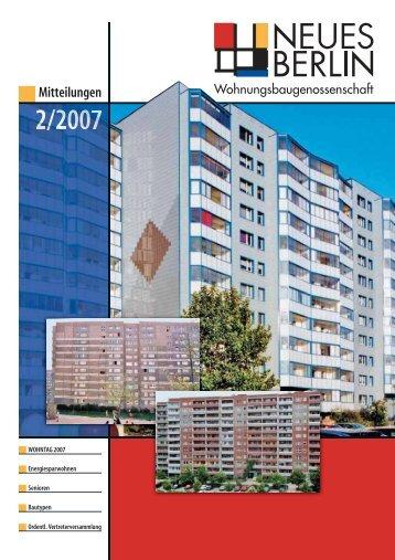 2/2007 - Wohnungsbaugenossenschaft Neues Berlin