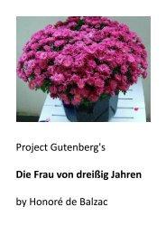 Project Gutenberg's Die Frau von dreißig Jahren by ... - BookRix