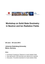 Workshop on Solid State Dosimetry in Neutron and Ion Radiation ...