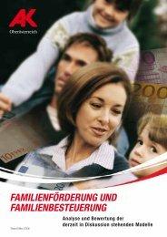 familienförderung und familienbesteuerung - Arbeiterkammer ...