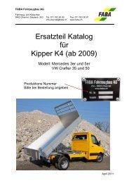 Ersatzteil katalog kipper K4 DE - FABA Fahrzeugbau