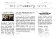 Der Gutenberg -Druck - Gutenbergschule Wiesbaden