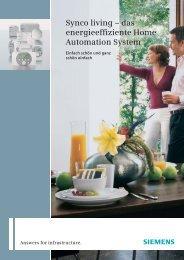 Synco living – das energieeffiziente Home ... - Siemens Schweiz AG
