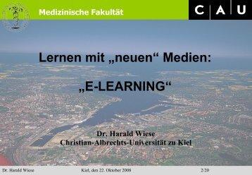 Medizinische Fakultät - Christian-Albrechts-Universität zu Kiel