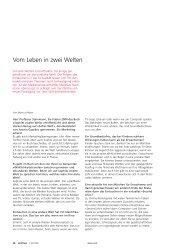 Matthias Steinmann – Vom Leben in zwei Welten - Universität Bern