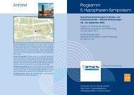 Anfahrt Programm 5. Hypophysen-Symposium