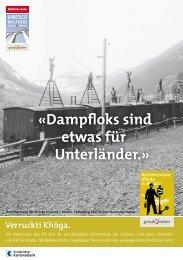 «Dampfloks sind etwas für Unterländer.» - Bahnmuseum Albula