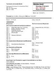 Protokoll der 35. Sitzung am 10.05.2011 - Technische Universität ...