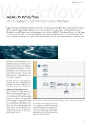 ABACUS Workflow Personaladministration vereinfachen