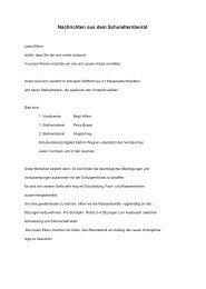 Nachrichten aus dem Schulelternbeirat -  Konrad-Duden-Schule