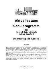 Aktuelles zum Schulprogramm - Konrad-Duden-Schule